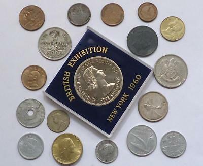 World Coins Lot Of 18,  Silver Coin Included, See Pics