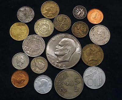 World Coins Lot Of 18,  Silver Coin Included, See Pics..
