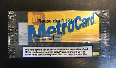 New York City MTA Metrocard $52.38 Good for 20 trips with bonus, $55 TOTAL VALUE