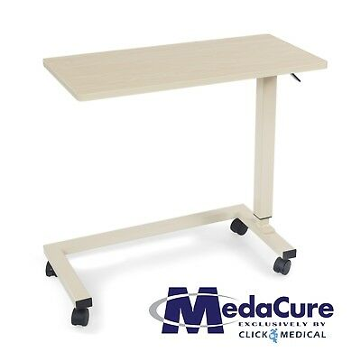 Medical Height Adjustable Overbed Table Flame Resistant and Anti-Spill Rim