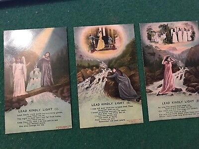 LEAD KINDLY LIGHT: WW1 Bamforth Song Cards Postcards Set of 3 - 4513 1/2/3