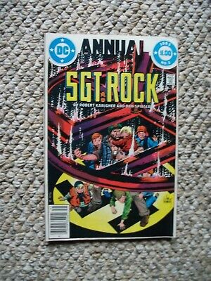 1983 DC Sgt Rock Annual Comic Book No 3