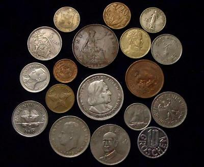 Foreign World Coins Lot Of 18, Silver Coin Included, See Pics...
