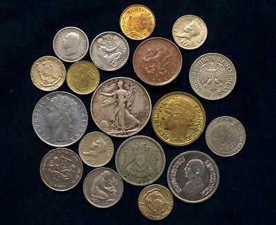 World Coins Lot Of 18, Silver Coin Included