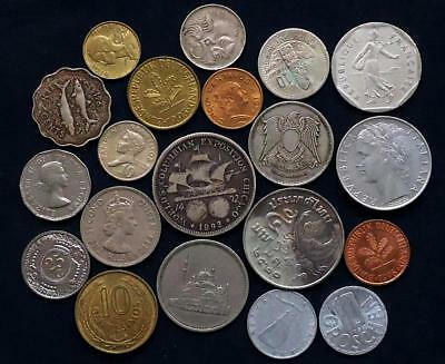 World Coins Lot Of 20,  Silver Coin Included, See Pics..