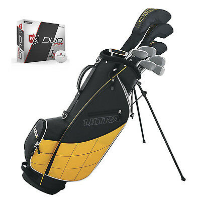 Wilson Ultra Men's Beginners 13 Piece Right Handed Golf Club Set w/ Bag & Balls