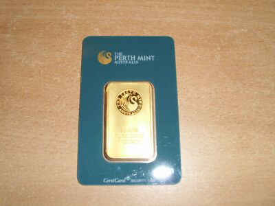 1 Unze The Perth Mint Goldbarren 99,99% nummeriert