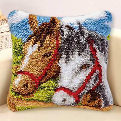 Animal Latch Hook Kits Embroidery Needlework Supplies for Pillow Cover Cushion