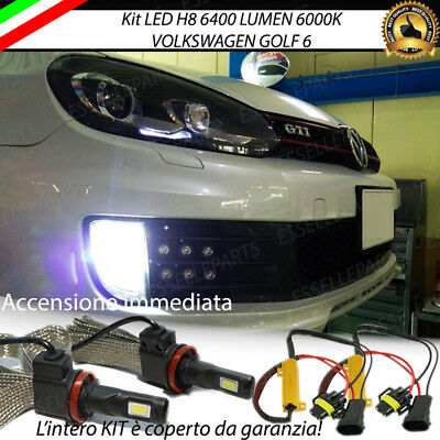 Full Led H8 Volkswagen Golf 6 Fendinebbia Canbus 6400 Lumen 6000K No Error