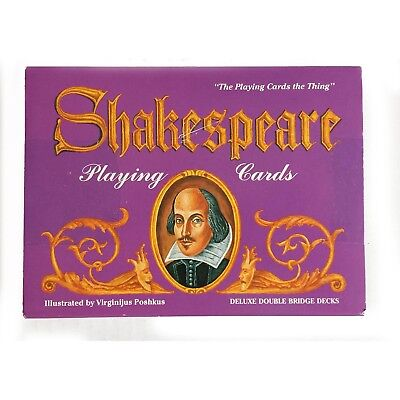 Shakespeare Playing Cards Two Decks 55 cards per deck. Printed in Belgium NEW