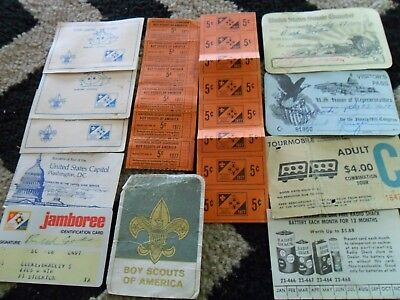 Mixed Lot of  Vintage Boy Scout , cards etc..