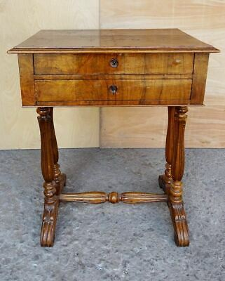 Antique French Walnut and Burl Wood Vanity Armoire Stand Desk