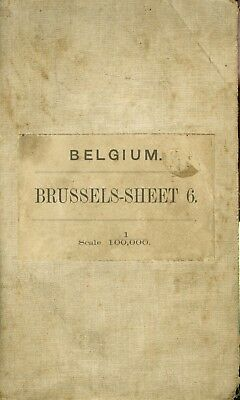 Overview Map 1912 1:100,000, BELGIUM, Brussels-Sheet 6 , Canadian, Canada WWI