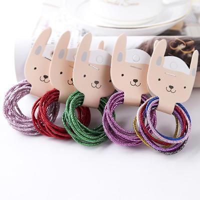 10X Elastic Rope Hair Ring Tie Band Girl Ponytail Holder Candy Color Access Q9V8