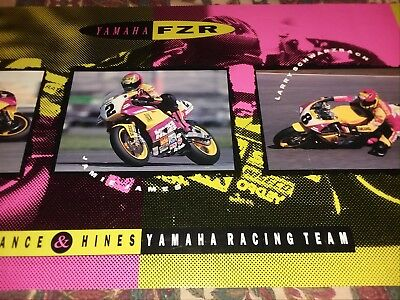 "Vintage Yamaha Fzr Vance & Hines Poster.  34"" X 17"". Very Good Condition."