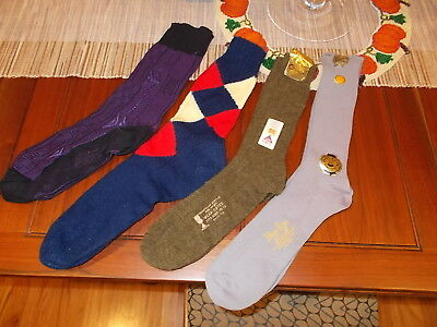 Vintage 50s 60s Men's Argyle Diamond Ban-lon Cotton Nylon Socks average is 11+ L