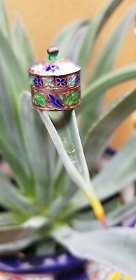 925 Silver With Colorful Inlay Pill Box-Awesome Sauce!