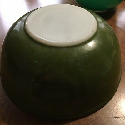 "VINTAGE PYREX Green  4 QT 10"" Mixing Nesting Bowl  Avocado 404"