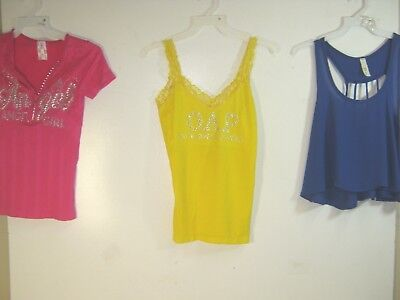 Wholesale Lot of 3 Women's Graphic Tanks / Tops  -  One Size Fits Most