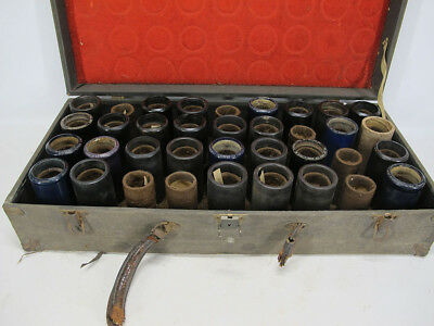 Antique Collection Edison Ambrola Phonograph Cylinder Tube Records 28 w/Case yqz