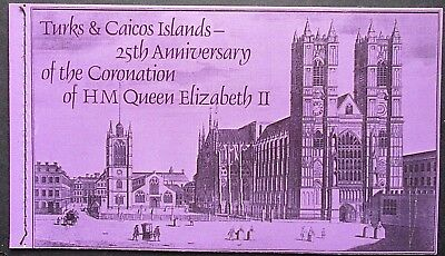 Turks & Caicos Islands 1978 25th Anniv of Coronation Booklet. MNH.