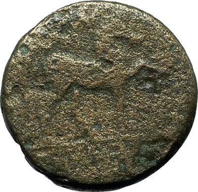 KYME Cyme in Aeolis 250BC Authentic Ancient Greek Coin AMAZON & HORSE i66610