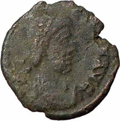 ARCADIUS 383AD Authent Ancient Roman Coin VICTORY NIKE CROSS i20704