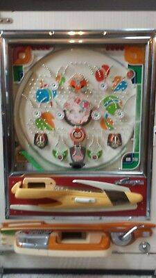 Immaculate Colorful Unique 1977 Sanyo Winking Girl Pachinko Machine