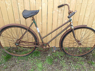 Vintage bike unkown make or year art or bike  parts  great prop  good parts  old