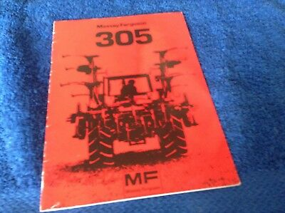Mf 305 Cultivator Operators Instruction Book
