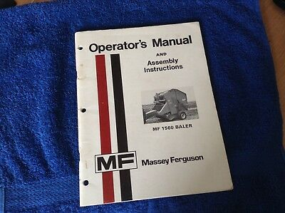Mf 1560 Baler Operators Manual