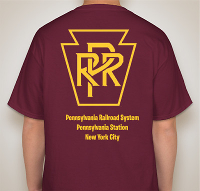 PRR Penn Station Pennsylvania Station NYC Hanes cottonT-Shirt-Large-Ships Free
