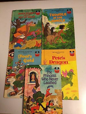 5 Disney chldrens books from the 1980s nice print this is a Five lot