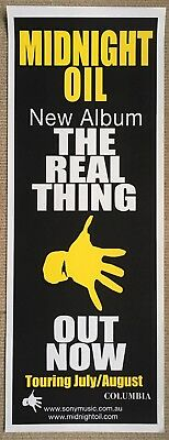 Midnight Oil The Real Thing Original Pole Poster 2000