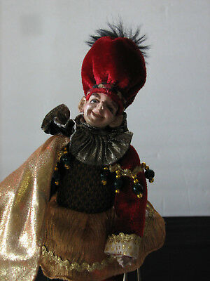 "Vintage Christmas Jester Elf Troll Doll~11"" Unique & Unusual"
