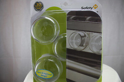 Safety 1st 5 Pack Clear View Stove Knob Hinged Covers 48409 Child Proof - 72312