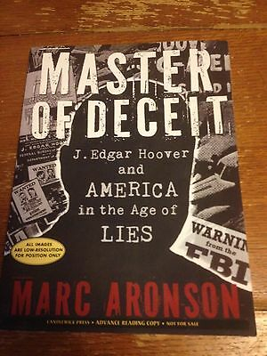 Master of Deceit : J. Edgar Hoover and America in the Age of Lies by Marc...gift