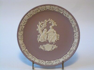 Wedgwood Made in England Lilac Jasperware My Valentine 1982 - Collector's Plate