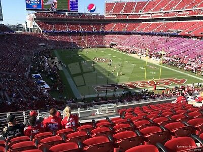 12/16 49ers vs Seattle Seahawks 2 Tickets Section 231 Row 7 STH