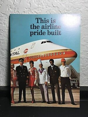 Vintage 1970's Continental Airlines Brochure/booklet