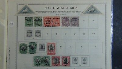 British South West Africa stamp collection on pages w/ 216 stamps or so high $$