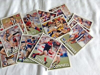 23 AFL FOOTBALL STICKERS 1996 Bulk Lot!