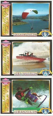 3 SANITARIUM  HIGH ACTION SPORTS COLLECTOR CARDS Bulk Lot