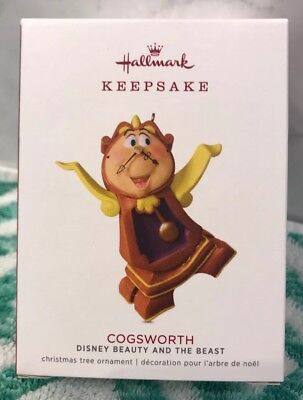 2018 Hallmark Keepsake Ornament Cogsworth Disney Beauty And The Beast Limited