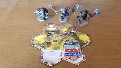 Horned Skull Brutes - Heroscape Squad & Card - Moltenclaw's Invasion - 1,2,3/18