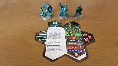 Greenscale Warriors - Heroscape Squad-Champions of the Forgotten Realms-12-14/20