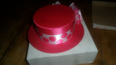 Vintage VERY UNIQUE Pink HAT Shaped Box