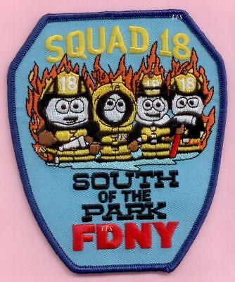 New York City Fire Dept Squad 18 Patch - South of the Park