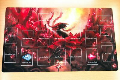 C1514+ Free Mat Bag Akiza Izinski Black Rose Dragon Yugioh Playmat With Layout