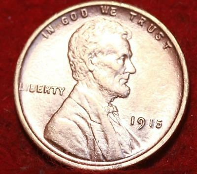Uncirculated Red 1915 Philadelphia Mint Copper Lincoln Wheat Cent